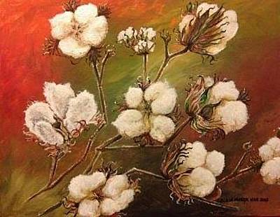 The Cotton Field Painting - Cotton by Cecilia Putter