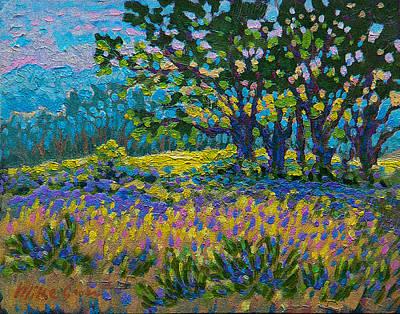 Cottonwood Meadow Print by Michael Gross