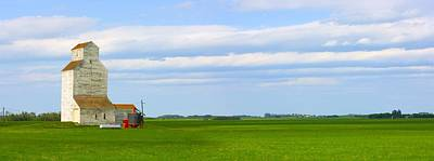 Country Grain Elevator Panoramic Print by Corey Hochachka