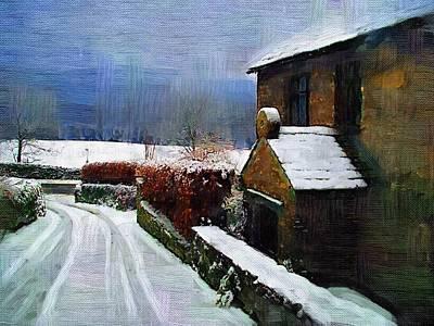 Country Lane Print by Amanda Moore