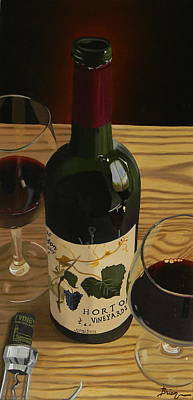 Virginia Wine Painting - Country Livin by Brien Cole