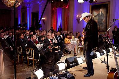 Country Singer Brad Paisley Performs Print by Everett