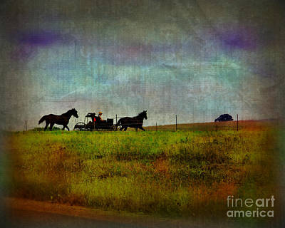 Country Wagon 2 Print by Perry Webster