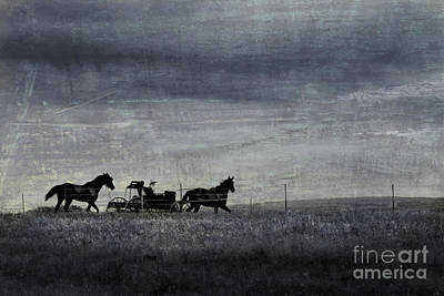 Country Wagon Print by Perry Webster