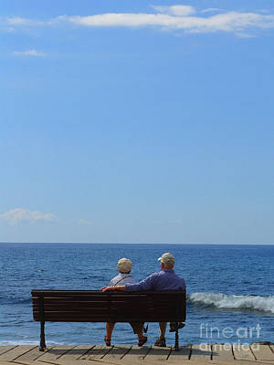 Photograph - Couple Looking At The Sea by Karin Ubeleis-Jones