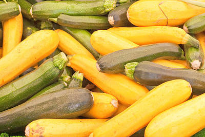 Healthy Eating Photograph - Courgettes by Tom Gowanlock