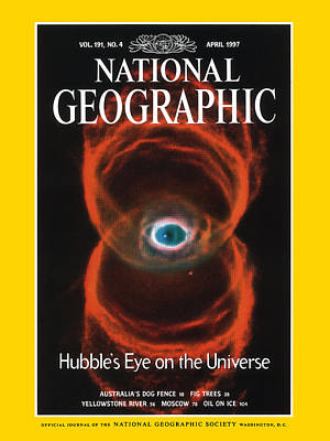 Hubble Space Telescope Views Photograph - Cover Of The April, 1997 Issue by Nasa