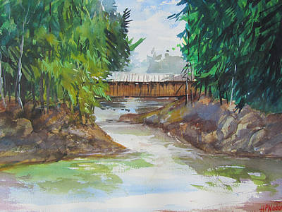 Covered Bridge Print by Heidi Patricio-Nadon