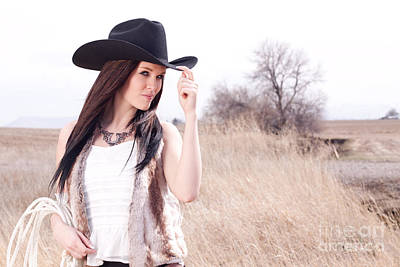 Cowgirl Photograph - Cowgirl by Cindy Singleton