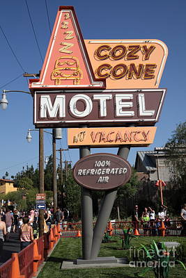 Disneyworld Photograph - Cozy Cone Motel - Radiator Springs Cars Land - Disney California Adventure - Anaheim California - 5d by Wingsdomain Art and Photography