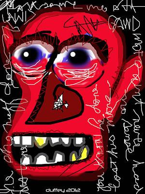 Basquiat Drawing - Crackhead 2 by Doug  Duffey