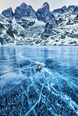 Cracks In The Ice Print by Evgeni Dinev