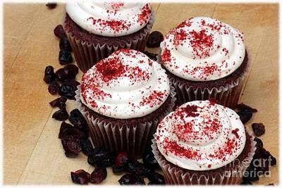 Cranberry Cupcakes Print by Sophie Vigneault