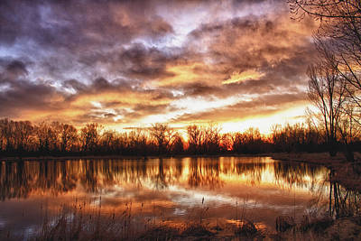 Crane Hollow Sunrise Boulder County Colorado Hdr Print by James BO  Insogna