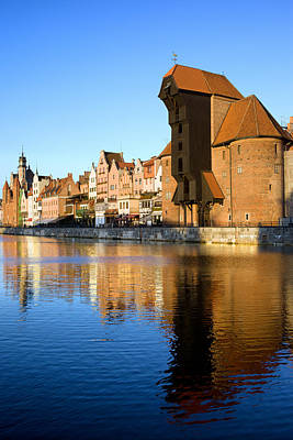 Danzig Photograph - Crane In The Old Town Of Gdansk by Artur Bogacki
