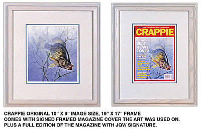 Magazine Cover Painting - Crappie Magazine And Original by JQ Licensing