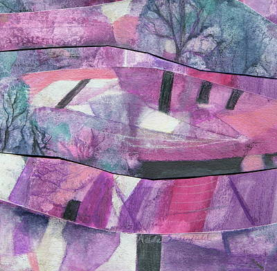Adele Mixed Media - Crazy Mixed Up Landscape by Adele Greenfield