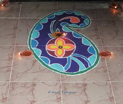 Rangoli Drawing - Creation by Sonali Gangane