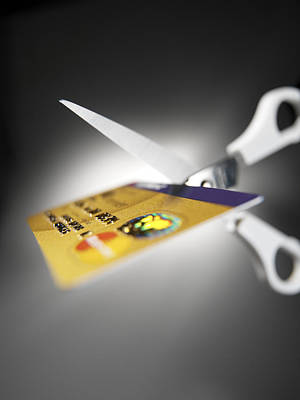 Credit Card Debt Print by Tek Image