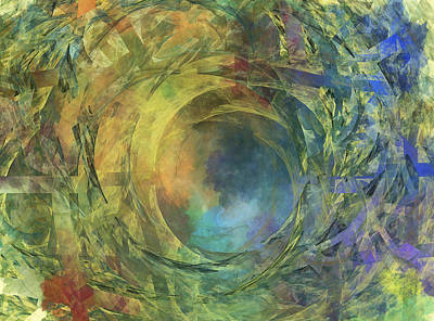 Earth Digital Art - Crescent Moon And Earth by Betsy Knapp