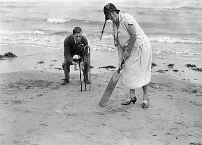 Cricket On Beach Print by Brooke