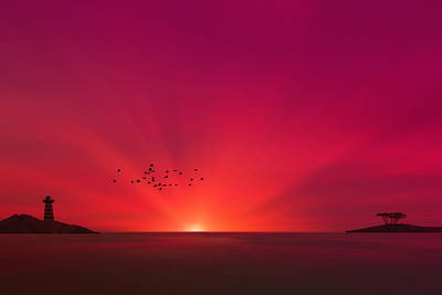 Crimson Sunset Print by Tom York Images