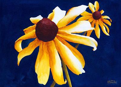 Black Eye Susan Painting - Criss Cross by Ken Powers
