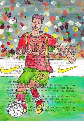 Cristiano Ronaldo Drawing - Cristiano Ronaldo by Jera Sky