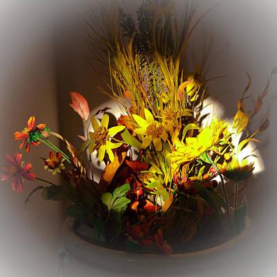 Crock Photograph - Crock Pot Full Of Flowers by David Patterson