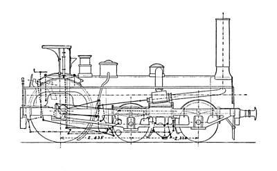 Technical Photograph - Crompton's Steam Locomotive by Mark Sykes