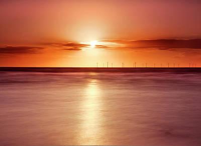 Crosby Beach In Sunset Print by Ian Moran