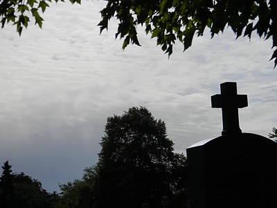 Cross In The Sky Print by Brett Reginald