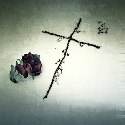 Grave Photograph - Cross by Joana Kruse