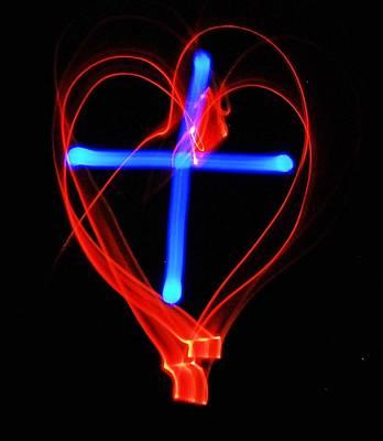 Red Photograph - Cross My Heart by Lisa Brandel