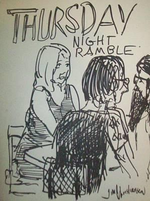 crowd at Thursday Night Ramble Print by James Christiansen
