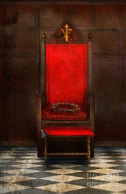 Crown Of Thorns On Throne Print by Jill Battaglia