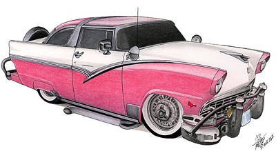 Victoria Mixed Media - Crown Vic Too by Lyle Brown