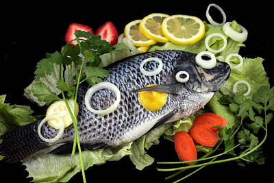 Crucian Fish With Vegetable Original by Paul Ge