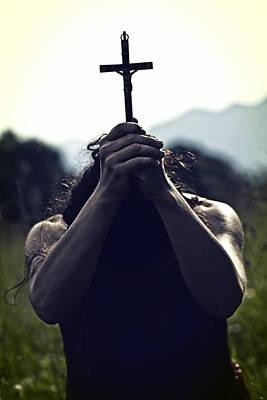 Crucifix Print by Joana Kruse