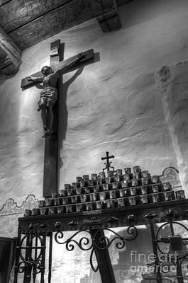 Crucifix Mission San Diego De Alcala Print by Bob Christopher