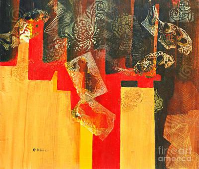 Acrylic Painting - Cruciform by Phil Albone