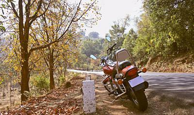 Cruiser In Autumn Print by Kantilal Patel
