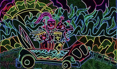 Cruising Night Print by Karen Elzinga