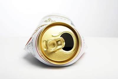 Food And Beverage Photograph - Crushed Beer Can by Victor De Schwanberg
