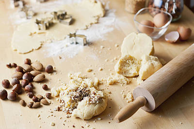 Crushed Nuts On Cookie Dough Print by Cultura/Nils Hendrik Mueller