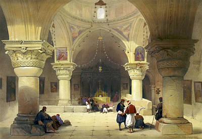 Crypt Of The Holy Sepulchre, Chapel Print by Everett