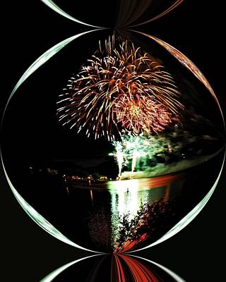 Fireworks Photograph - Crystal Ball Fireworks by Don Mann