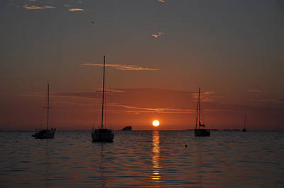 Sailboat Photograph - Crystal Beach Sunset by Bill Cannon