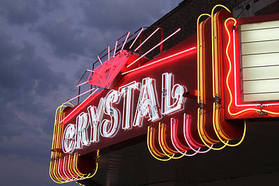 Crystal Theater Neon Print by Tony Grider