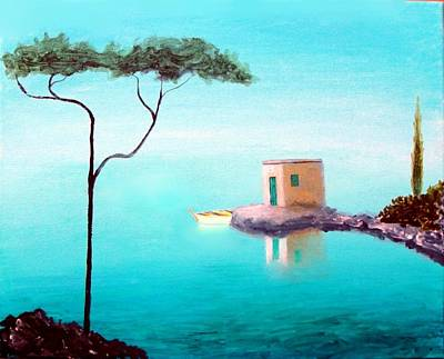 Crystal Waters On The Mediterranean Print by Larry Cirigliano